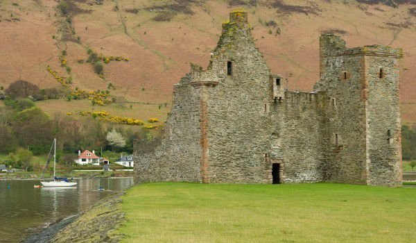 Lochranza Castle on Isle of Adden near Brodick