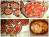 Earthenware Dishes with Meat, Potatoes and Tomatoes
