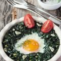 Vegetable and Turmeric Recipes - Spinach with Eggs and Cream Cheese