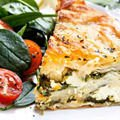 Leek Phyllo Pastry with Yogurt