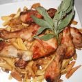Appetizing Chicken Legs with Salvia