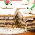 Powdered sugar Desserts - Quick Cake with Grated Chocolate