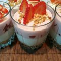 Strawberry Cheesecake in Glasses