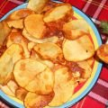 Spicy Potato Chips with Garlic Sauce