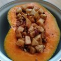 Stuffed Pumpkin with Fruits, Nuts and Turkish Delight