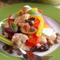 Panzanella with Olives and Pine Nuts