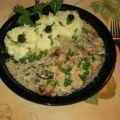 Pork Steaks with Mushrooms and Sour Cream