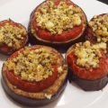 Oven Baked Eggplant Bites with Tomatoes
