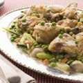 Chicken and Pea Stew in the Oven