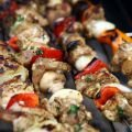Marinated Pork Skewers on the Grill