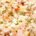 Russian Salad with Apples