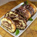 Colorful Roll with Caramel Glaze