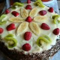 Cake with Cream and Fruits