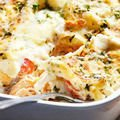 Juicy Chicken with Mushrooms, Cheese and Potatoes