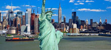 Hudson River -  The Statue of Liberty
