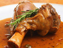 Roasted Lamb with Red Wine Sauce