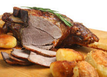 Roasted Lamb with Sage