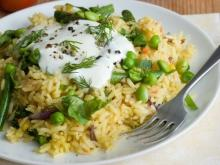 Broad Beans with Rice and Yogurt