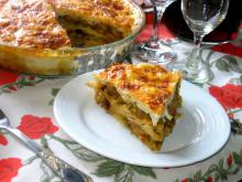 Phyllo Pastry Lasagna with Pork and Vegetables