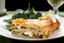 Layered Pie with Feta Cheese and Dock