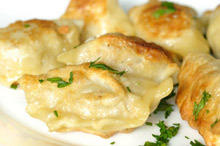 Fried Burek with Minced Meat and Rice