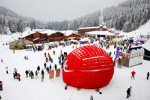 Perfect organization for the World Ski Cup in Bansko this weekend.