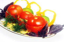 Stuffed Tomatoes with Pasta