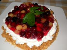 Biscuit Tart with Mascarpone, Cherries and Sour Cherries