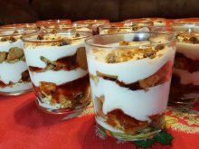 Biscuit Cake with Jam in Cups
