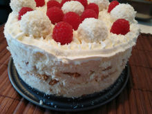 Biscuit Cake with Raffaello Cream