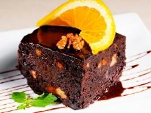 Choco-Cake with Walnuts and Orange