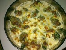 Tasty Broccoli with Cream and Cheeses