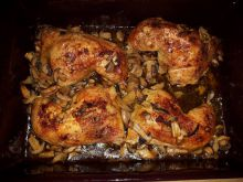 Chicken Leg with Mushrooms