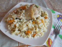 Chicken Legs with Rice in the Oven