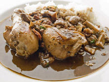 Rice with Mushrooms and Drumsticks