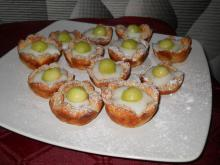 Puff Pastry Baskets with Vanilla Cream and Melon