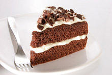 Chocolate Cake with White Cream