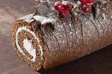 Chocolate Roll with Cream