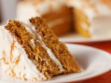 Carrot Cake with Walnuts and Mascarpone
