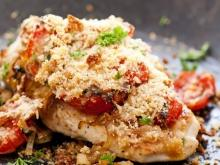 Chicken breast with tomatoes and parmesan