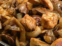 Pork with Mushrooms and Leeks