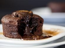 Homemade Chocolate Souffle with Butter