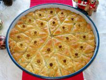 Homemade Baklava with Walnuts and Hazelnuts