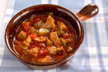 Pork with Tomato Sauce and Vegetables