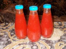 All Natural Tomato Juice in Bottles