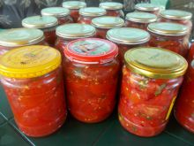 Sterilized Tomatoes in Jars
