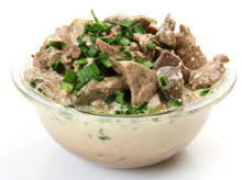 Chicken Livers with Cream Sauce