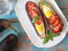 Roasted Eggplants with Eggs