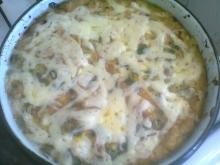 Eggs with Sausage, Onions and Cheese