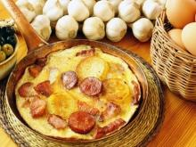 Fried Sausage with Eggs